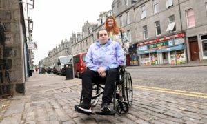 Megan Bruce and her girlfriend Emma Summers are unhappy about the state of the pavements in the city.