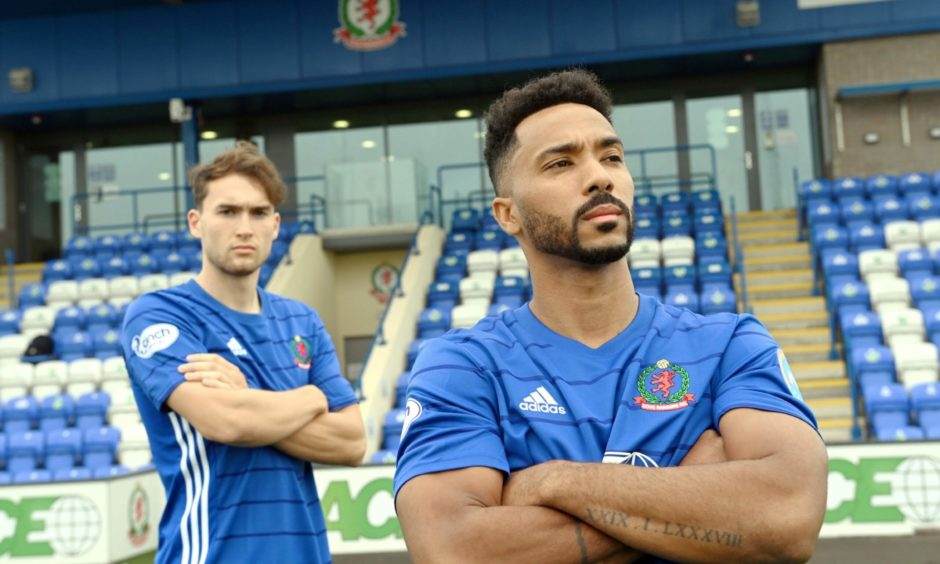 Cove Rangers new signings Jevan Anderson and Shay Logan.