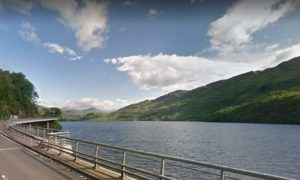 Loch Lomond near Pulpit Rock. Photo: Google Maps