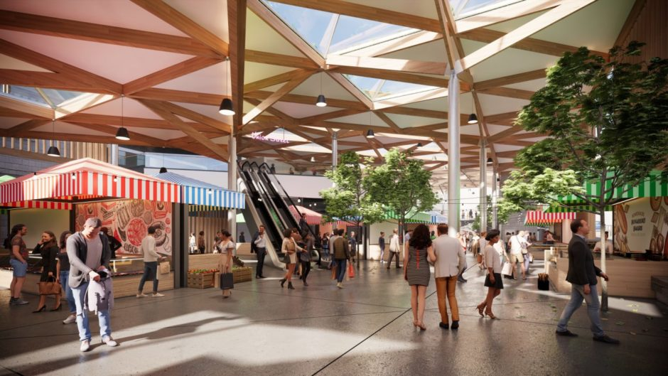 Concept image of a redeveloped Aberdeen Market in Union Street, being proposed by Aberdeen City Council (Photo: Aberdeen City Council)