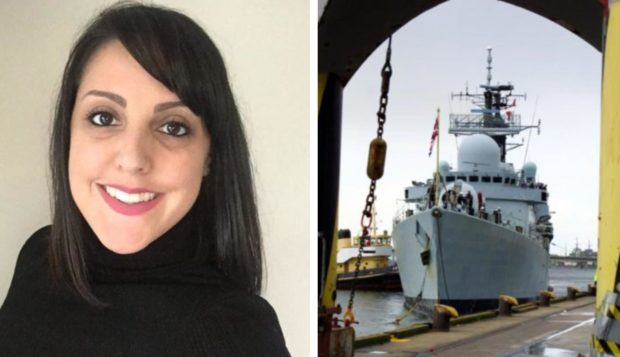 Ms Pacey joined the Royal Navy straight from school as an operator mechanic and served seven years with the service. HMS Southampton, a type 42 destroyer based in Portsmouth, was the first ship she worked aboard.