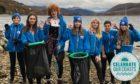 Making waves: Hamish Dingwall, Isla Pellant, Megan Loftus, Poppy Lewis-Ing, Caillin Patterson, Josh Leon and Arwen Horseburgh, of Ullapool Sea Savers.