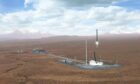 An artist's impression of the proposed Sutherland spaceport site.