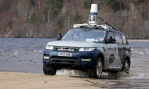 Gathering data for driverless vehicles on the Ardverikie Estate.