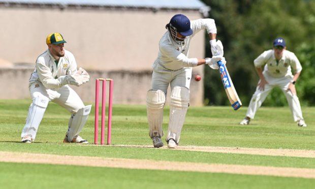 Gordonians captain Mayank Bhandari pictured batting.