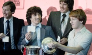 Aberdeen FC hosted a four-team tournament at Pittodrie in August1981. Picture shows Kevin Keegan and Gordon Strachan making the draw.