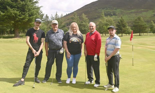 (L-R): Aiden Scanson Smith, Norman McConnachie, Melanie Allan, George Allan and Jay Hutton.