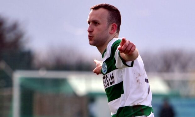 John McLeod during the season of his life for Buckie Thistle.