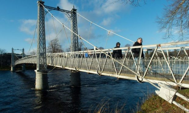 The Infirmary Bridge crosses the River Ness in Inverness. Pictures by Jason Hedges.