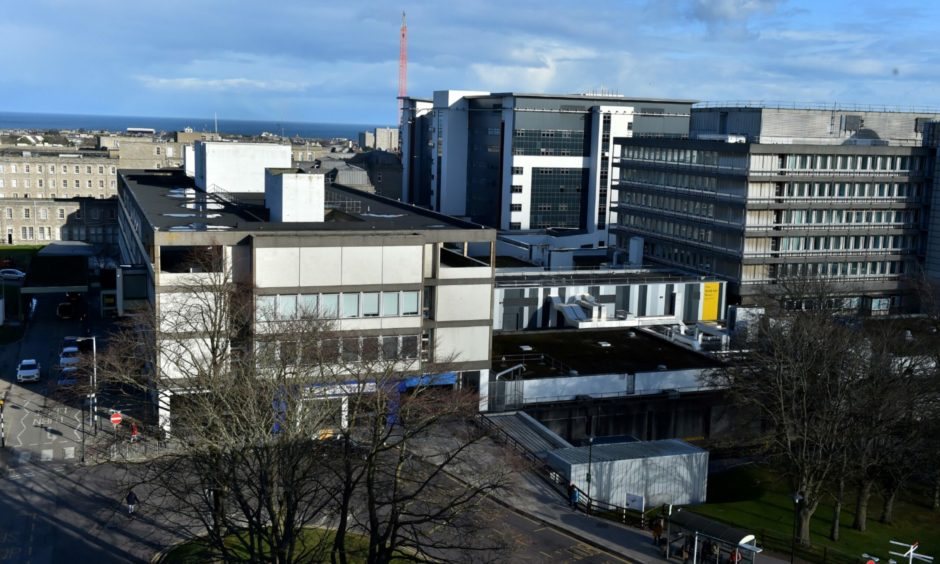 Aberdeen Royal Infirmary has been placed on Code Black amid a surge of Covid cases. Picture by Kenny Elrick/ DCT Media