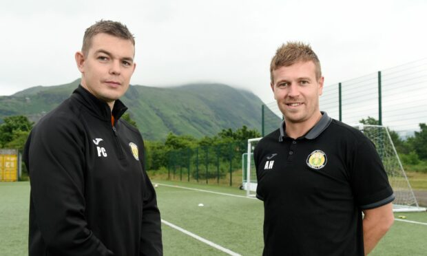 Former Fort William manager Ashley Hollyer, right, and assistant manager Paul Coutts