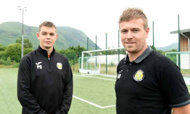Fort William manager Ashley Hollyer, right, with assistant manager Paul Coutts