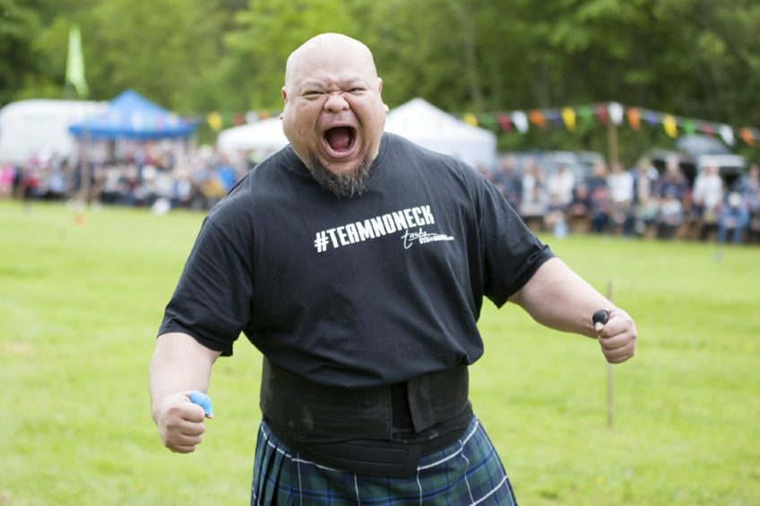 Taufig Mauhammad from Singapore taking part in the Drumtochty Highland Games in 2019
