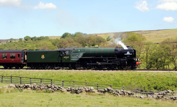 The 60163 Tornado steam locomotive, which will arrive in Aberdeen later today. Anna Gowthorpe/PA Wire