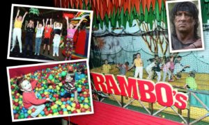 Ramboland was a jungle-themed adventure park at Codona's amusement park at the beach.