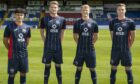 Ross County players, from left, are: Alexander Robertson, Coll Donaldson, Tom Grivosti and Oli Shaw
