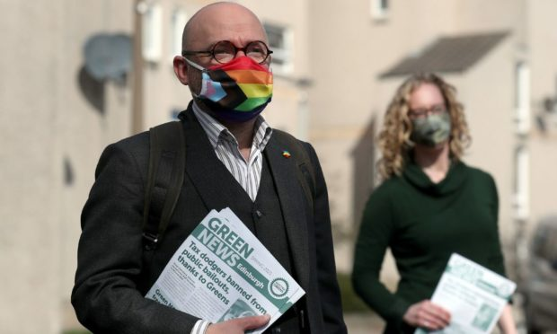 Patrick Harvie and Lorna Slater, co-leaders of the Scottish Green Party (Photo: PA)