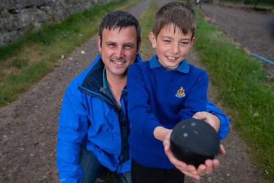 Jack Irvine, from New Aberdour will receive an award for his bravery after his dad, Callum, fell from a ladder - by using Alexa.