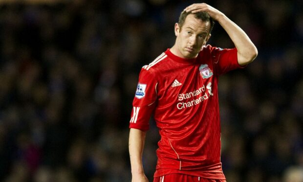Charlie Adam in action for Liverpool