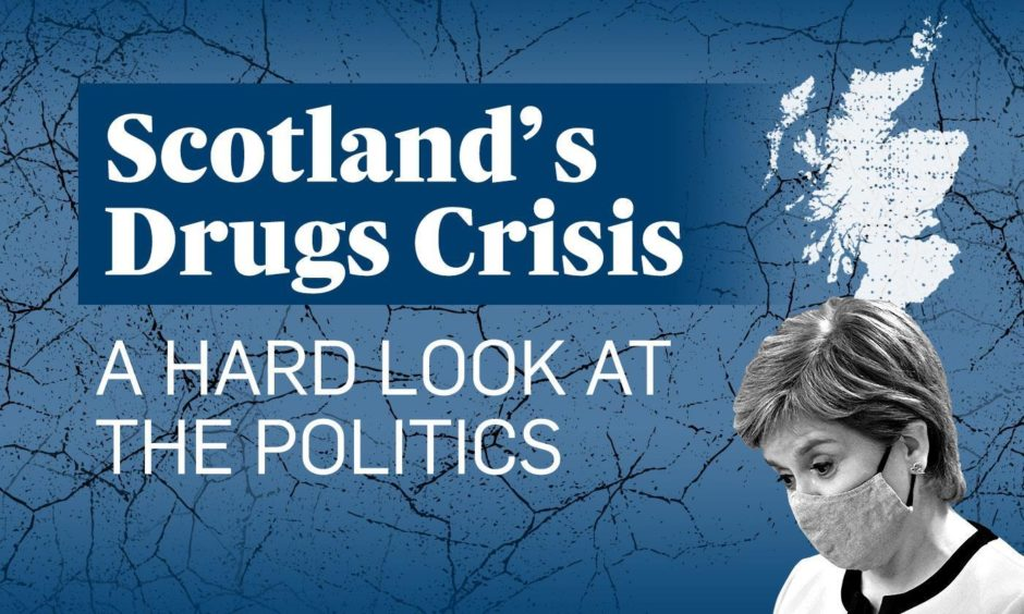 Scotland's drugs death rate increased again in 2020