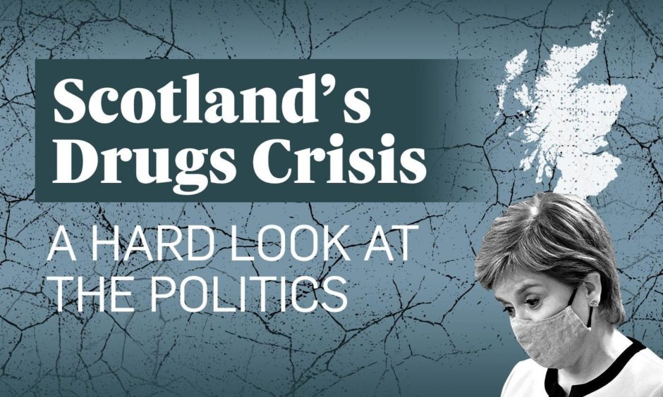 Scotland's drugs crisis has escalated over years. Image by DCT Media Design Team.