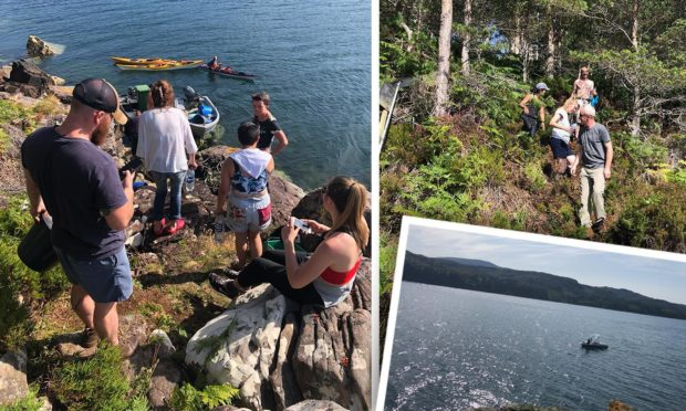 Around 50 people headed over to Shieldaig Island to tackle the fire. Pictures by Andrew Burnett