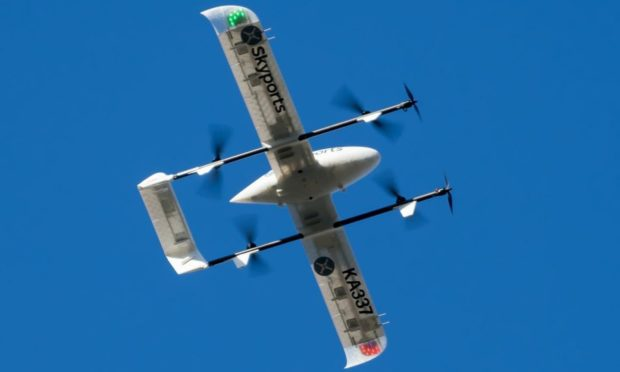 A satellite-enabled drone.