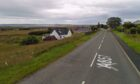 The A857 Stornoway road has been closed between Newmarket and Bridge Cottages. Photo: Google Maps