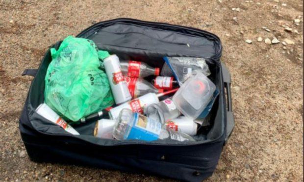 Suitcase of empty bottles found in Balmoral Estate