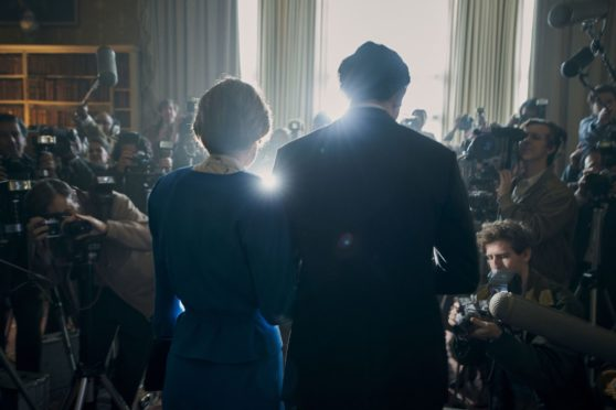 Emma Corrin and Josh O'Connor as Princess Diana and Prince Charles in the most recent season of The Crown.