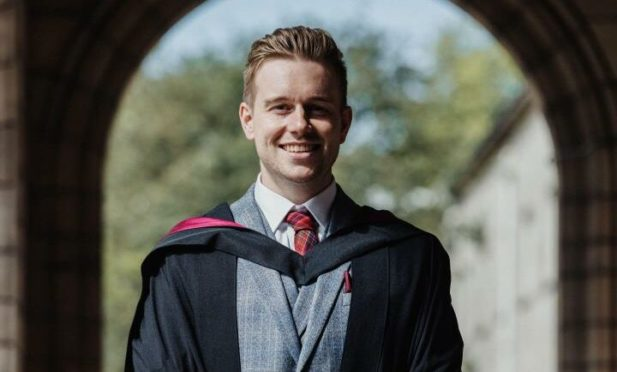 Thomas Lumsden was 'proud' to receive a medical degree after graduating from Aberdeen University.