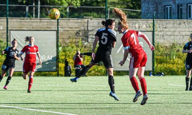 Eilidh Shore notched a hat-trick against Glasgow Women