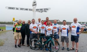 Christina MacKenzie has today smashed the record for fastest women to cycle from Land's End to John O'Groats