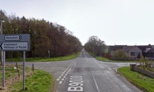 There has been a crash on the B9000 at a crossroads. Supplied by Google Maps.