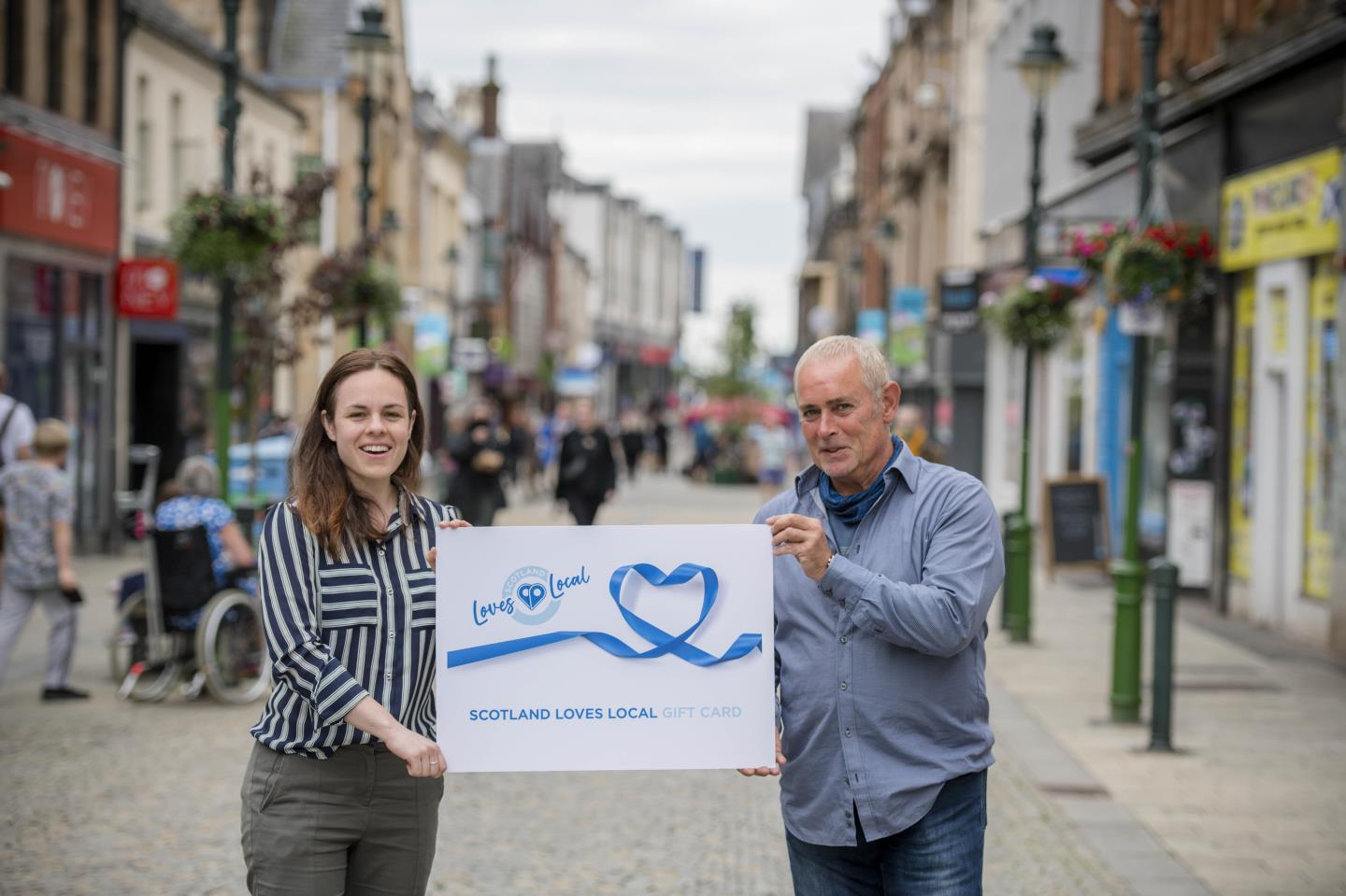 Kate Forbes and Phil Prentice from Scotland Loves Local.