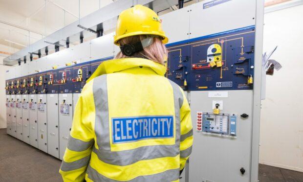 SSEN engineer in substation.