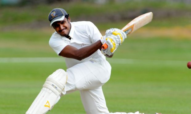 Former Aberdeenshire pro Harsha Cooray was in blistering form for Falkland.