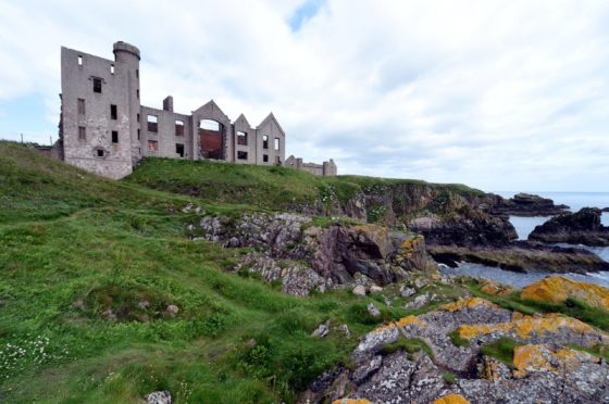 Slains Castle near Cruden Bay. Picture by Jim Irvine