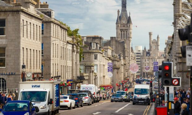 Aberdeen's Union Street has changed greatly over the years