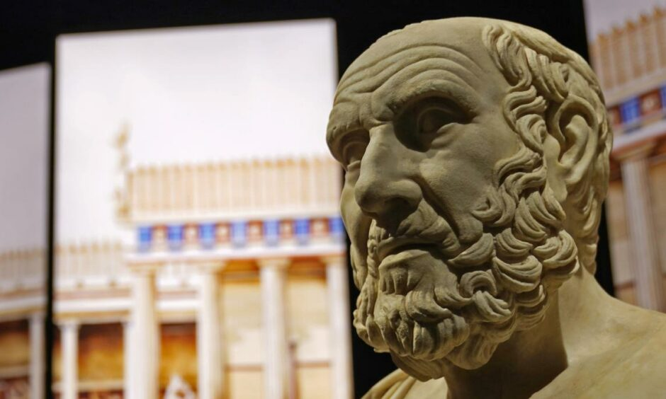 A bust of Hippocrates. Does he have the answers on how to save the Gaelic language?