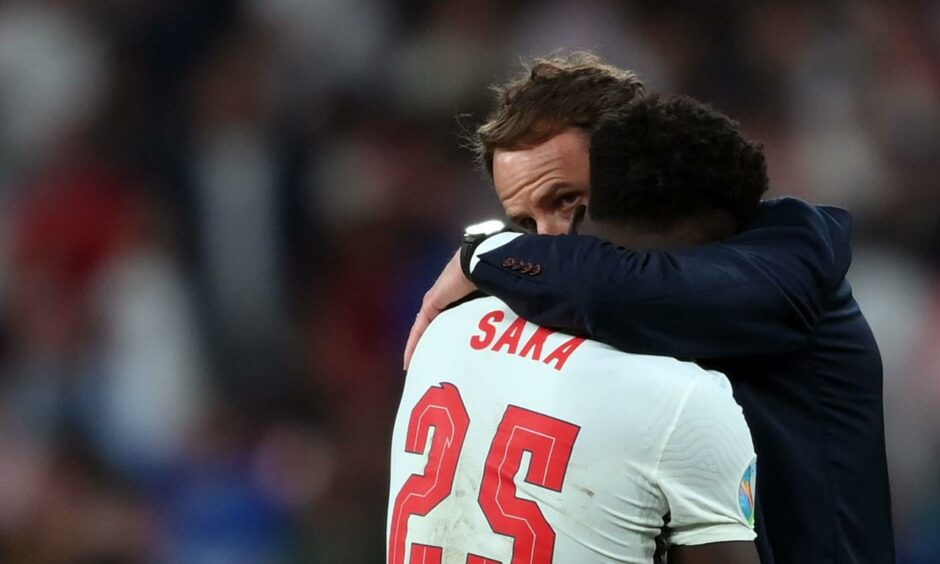 A heart-breaking moment for the young Bukayo Saka at the Euros.