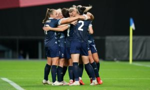 Britain's women's football team have called taking the knee before Olympic matches 'an important symbol of peaceful protest'