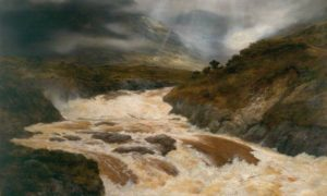 Spate In The Highlands by Peter Graham.
