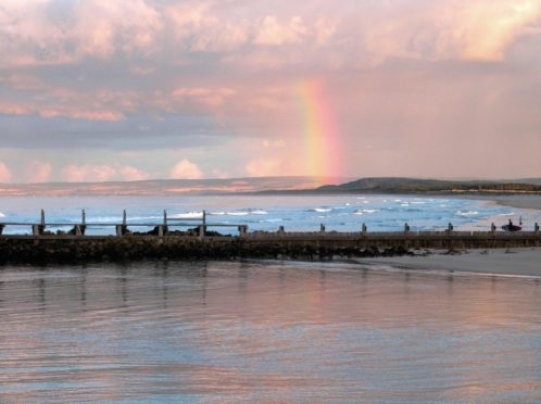 Spey Bay from Lossiemouth.