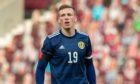 Aberdeen midfielder Lewis Ferguson in action for Scotland under-21s against Croatia.