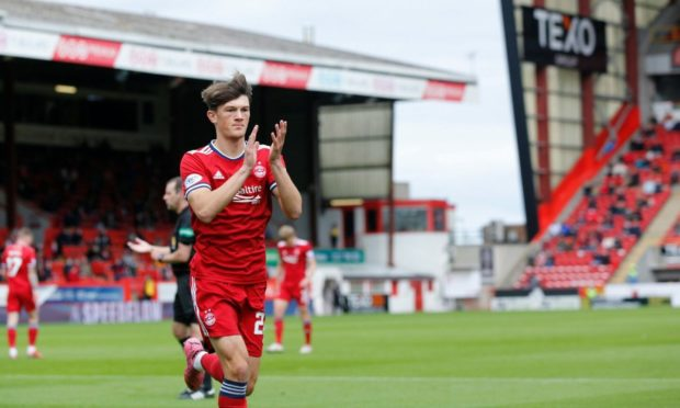 Aberdeen's Calvin Ramsay produced a man-of-the-match display against Dundee United.