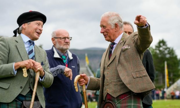 Prince Charles at the Grampian Highland Games.
