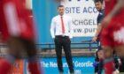 Aberdeen manager Stephen Glass at Stark's Park.