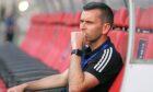 Aberdeen manager Stephen Glass in Baku.