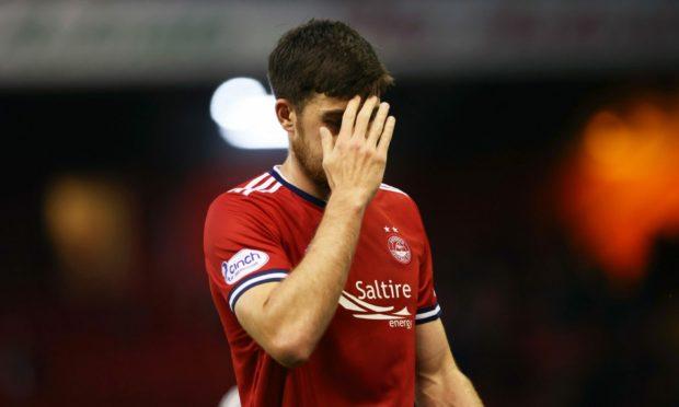 Declan Gallagher was a dejected figure following Aberdeen's exit